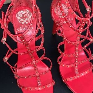 Vince Camuto, size 6, red heel, 5 inch